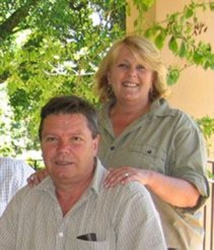 John and Heather Duff - the owners and your hosts at Laughing Waters Guest House